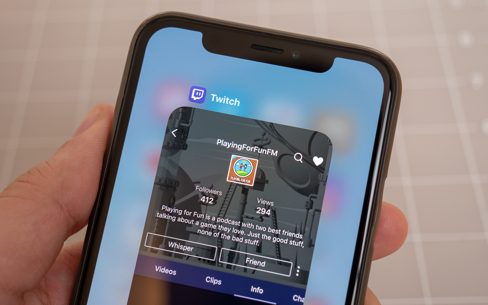 Twitch for iPhone